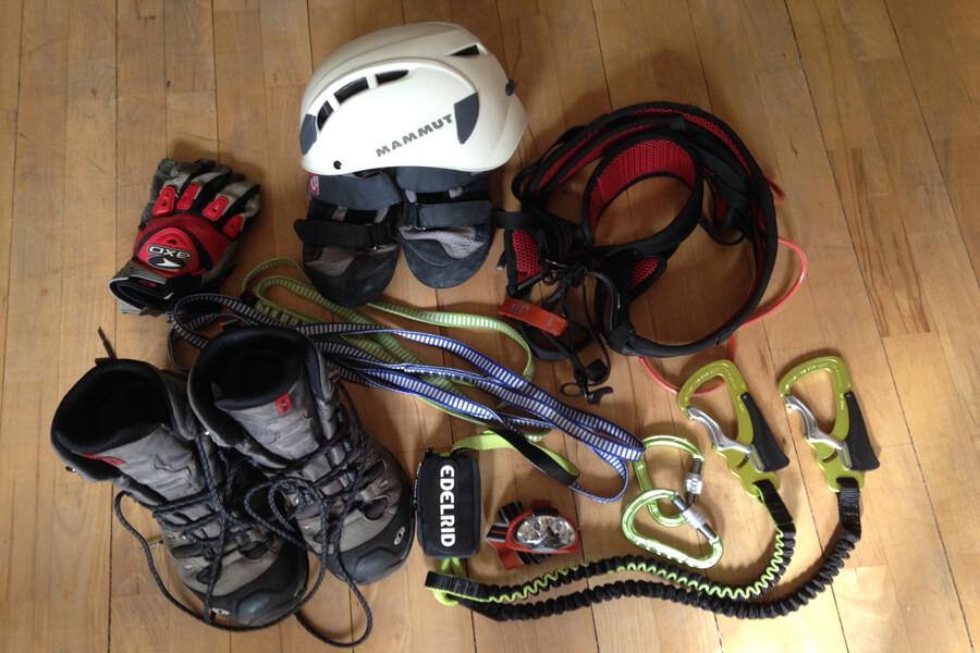 Ausrüstung für Klettersteige