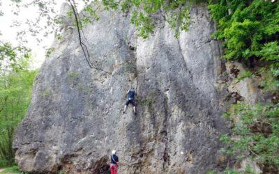 Klettern im Frankenjura – Treunitzer Wand