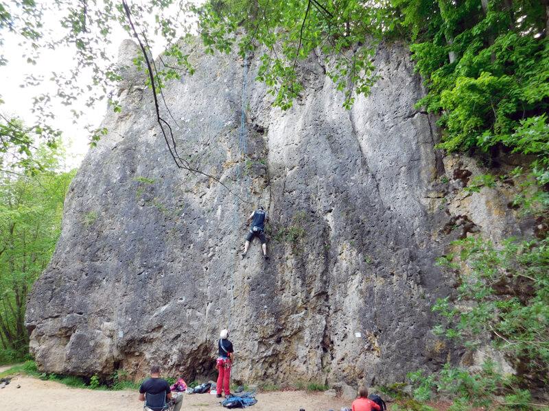 18 Meter hohe Treunitzer Wand