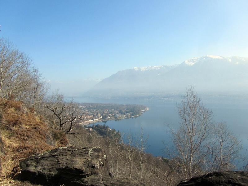 Blick hinab auf Ascona