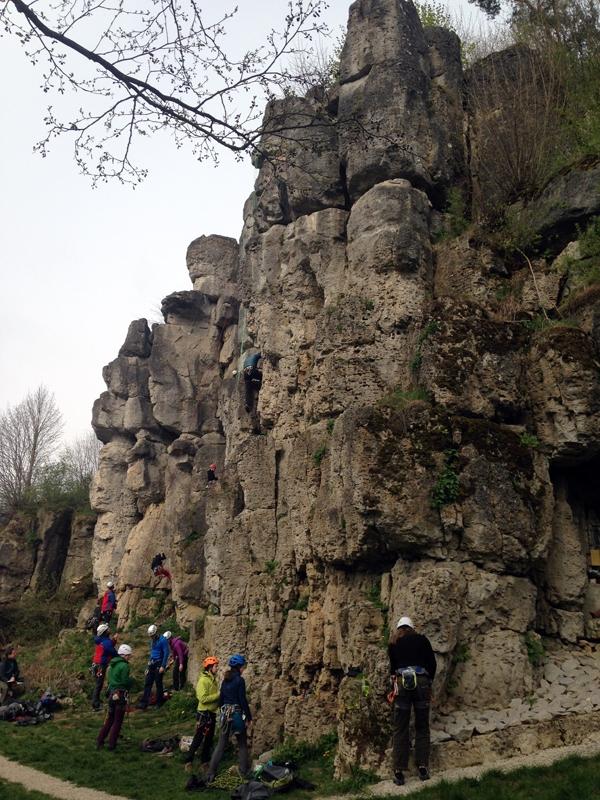Gut besuchter Fels