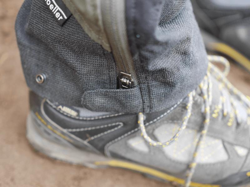 verstellbarer Beinabschluss & Schoeller® Keprotec® Gewebe