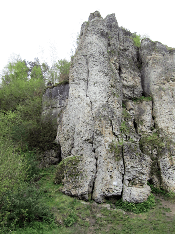 25 Meter hoher Wandbereich