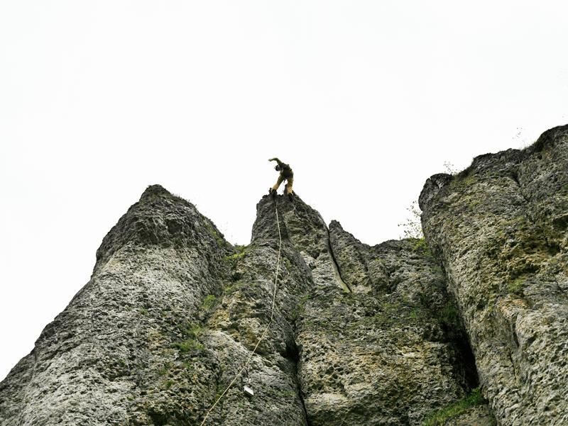 Klettern des Rocky Kremer Ged.Weg