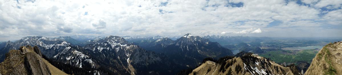 fantastisches Bergpanorama