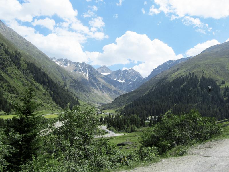 Blick auf den Rettenbachferner am Ende des Kaunertals