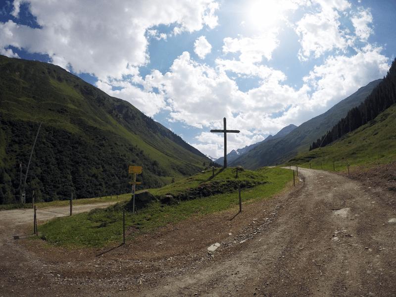 Holzkreuz an der Taschach Alm