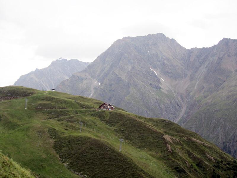 Blick zur Rifffelseehütte