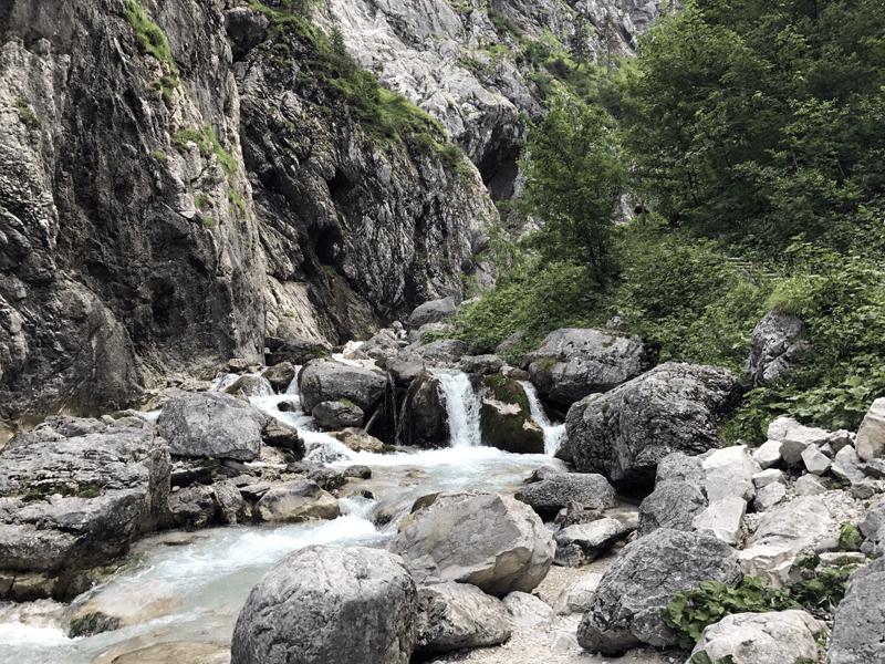 Der Hammersbach oberhalb der Höllentalklamm