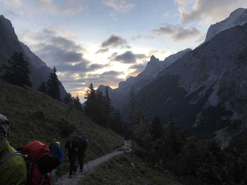Sonnenaufgang im Höllental