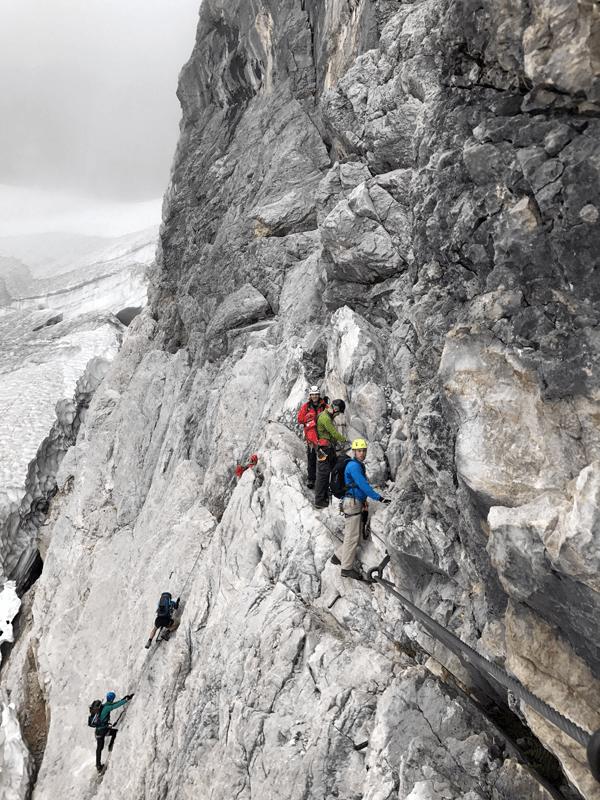 Oberer Einstieg am Höllental-Klettersteig