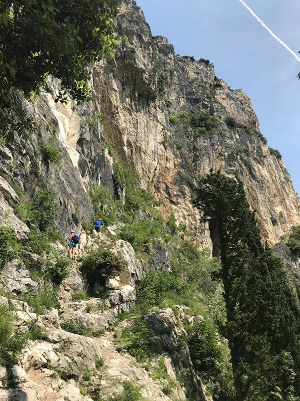 Einstieg am Klettersteig