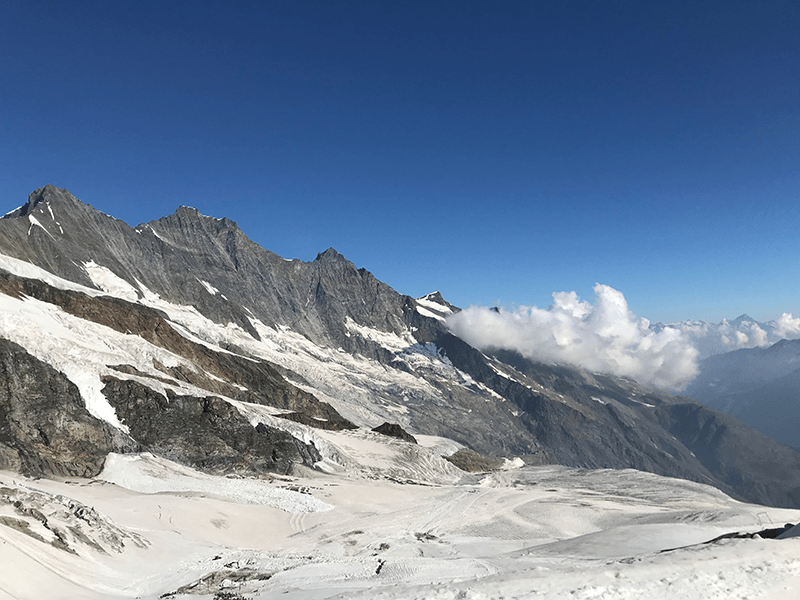 Blick auf den 4545 Meter hohen Dom