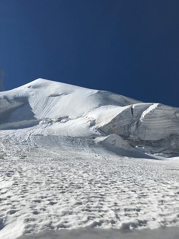 Schnee und Eis des Feegletscher