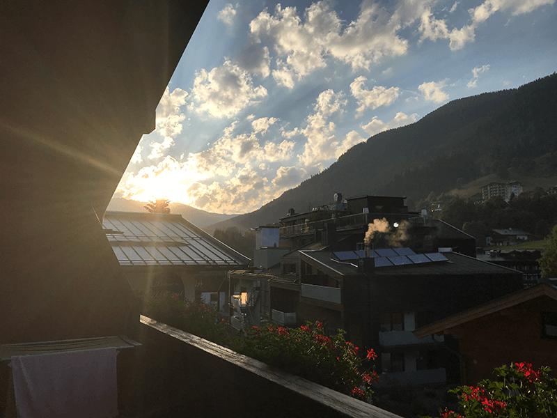 Blick vom Balkon im Appartement Pitterle