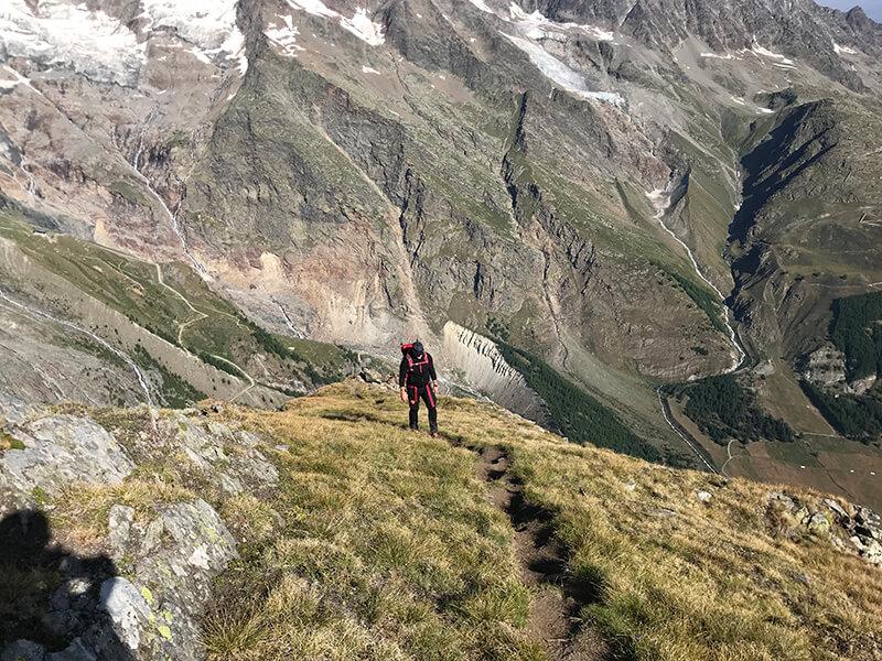 Gehpassage zwischen den Klettersteig-Abschnitten