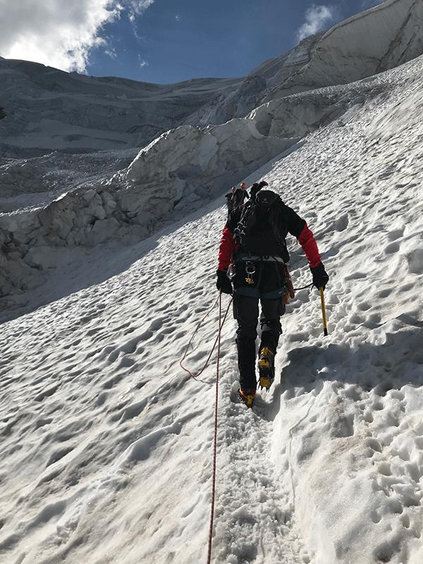Uschi im Steilen Anstieg