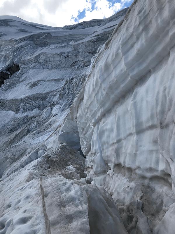 Eis- und Schneemassen