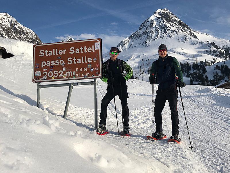 Schneeschuhwanderung zum Staller Sattel