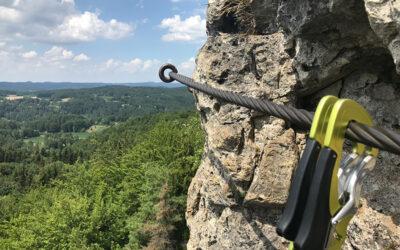 Höhenglücksteig, ein Drahtseilakt