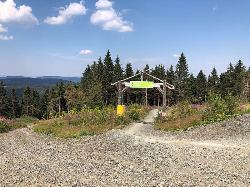 Startpunkt der Freeride und Downhill Racetrack