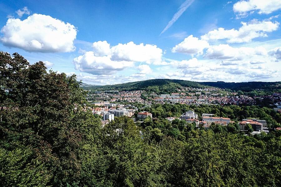 Blick auf Meiningen im Werratal