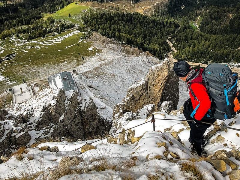 der steile Steig direkt über der Köllnerhütte
