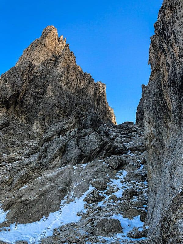 Blick zum Vajolon-Pass