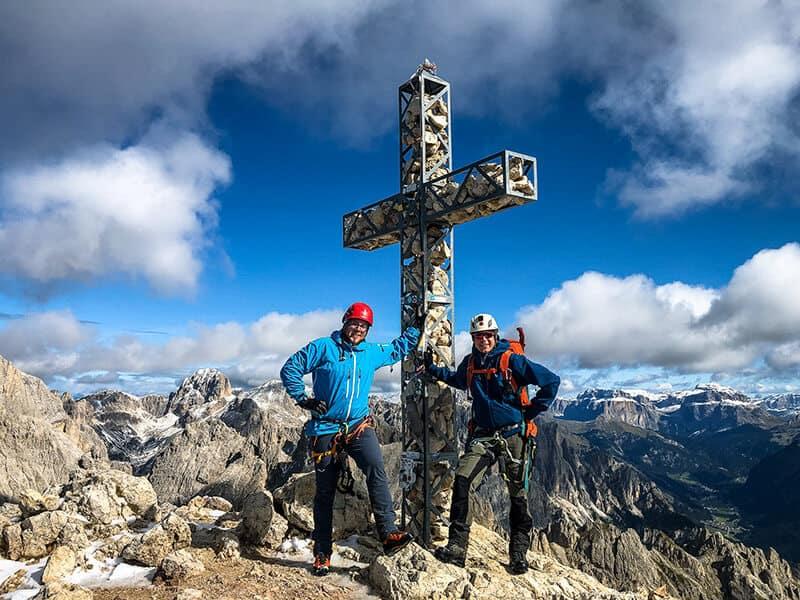 mit Steffen am Gipfelkreuz der Rotwand ( 2806 m )