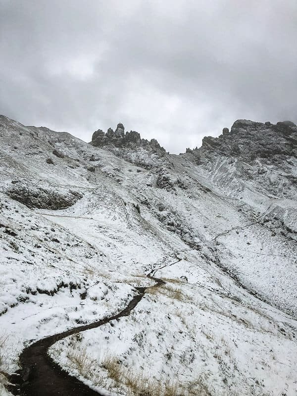 Der Weg hinauf zur Rosszahnscharte
