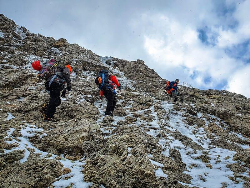 Der steile Steig zum Malignonpass hinauf