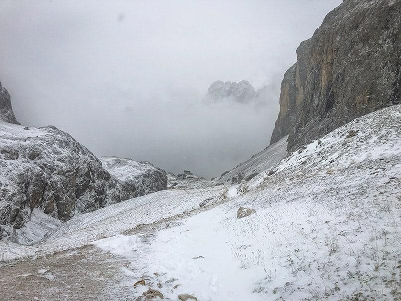 Vajolet- und Preusshütte kommen in Sicht