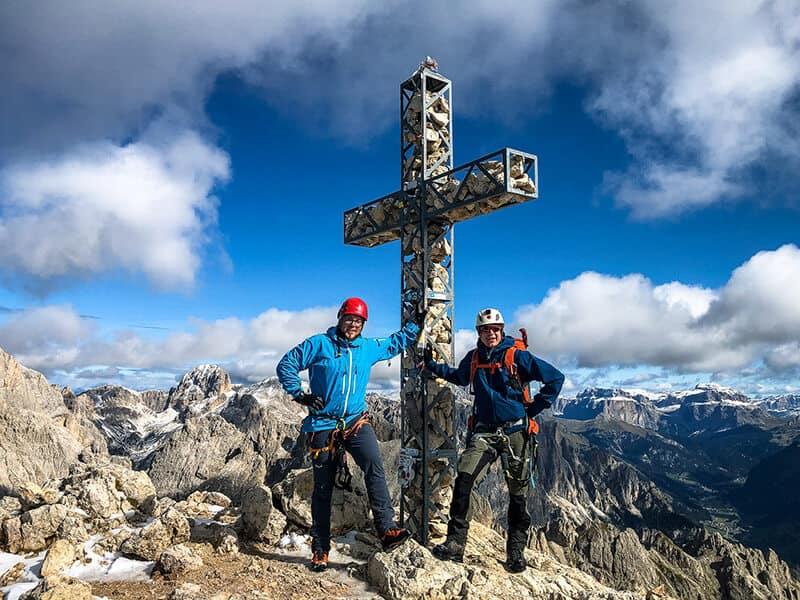 Am Gipfelkreuz der Rotwand auf 2806 Metern