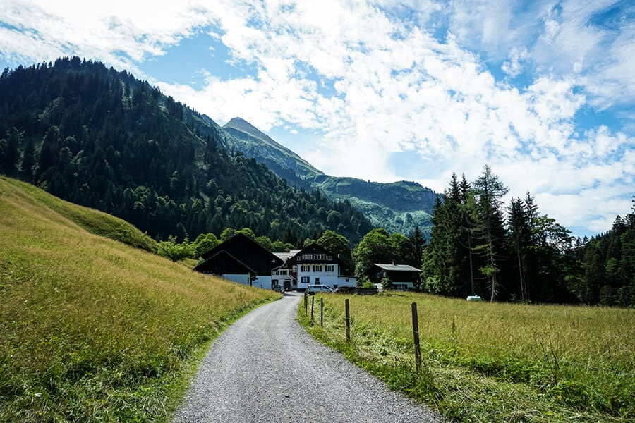 Einödsbach in Sicht