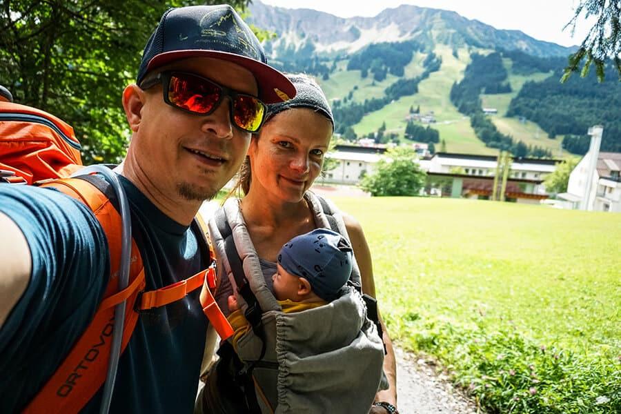 Erste Bergtour zu Dritt